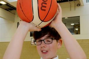 talented wishaw boy born with rare facial cleft dreams of basketball scholarship