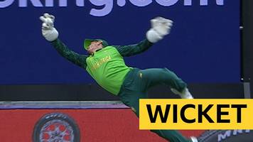 cricket world cup: virat kohli dismissed by 'incredible' quinton de kock catch
