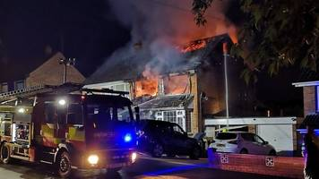 chantry house fire: neighbours rescue family from 'suspicious' blaze