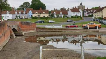 finchingfield's pond accidently drained