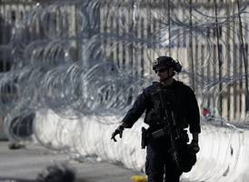 trump administration sends troops to us-mexico border to paint the wall