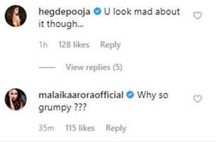 malaika arora can't get over how grumpy arjun kapoor looks in this photo