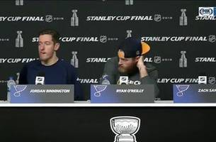 o'reilly credits binnington with helping blues weather the first-period storm