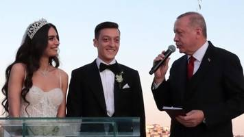 turkey's erdogan is footballer mesut ozil's best man