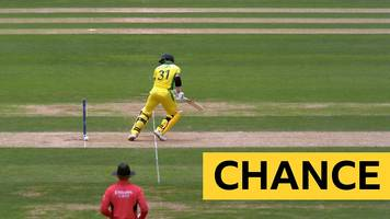 cricket world cup: ball hits stumps - but bails stay on