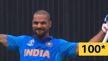 cricket world cup: an unfortunate overthrow brings up dhawan's century
