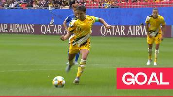 women's world cup 2019: sam kerr's penalty rebound gives australia the lead against italy