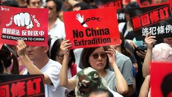 Hong Kong protests: Chinese state media blames 'foreign forces'
