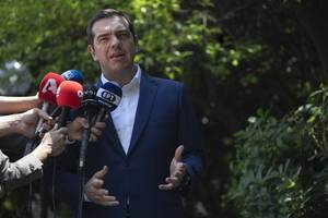 pm tsipras asks greek president for dissolution of parliament, elections (vid)