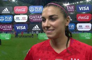 Alex Morgan on record-breaking 5-goal performance: 'I'm speechless'