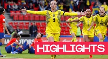 Women's World Cup 2019: Sweden score twice after rain delay to see off Chile