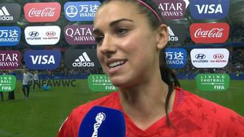 'I'm speechless' - Alex Morgan on scoring five goals for USA against Thailand