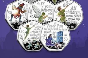 New Peter Pan and Tinkerbell 50p coins launched - and are flying out to collectors