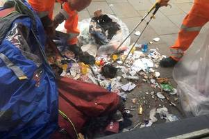 the shocking contents of a rough sleeper's tent in newport