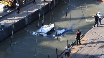 hungary tourist accident: operation to raise capsized boat begins