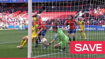Women's World Cup 2019: Chile keeper Christiane Endler manufactures a 'fabulous save' to deny Sweden