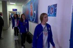 U.S. Women's National Team arrive at the stadium ahead of their opening match vs. Thailand