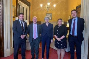 prime minister discusses future of british steel with local mps as union says more than 30,000 jobs at risk