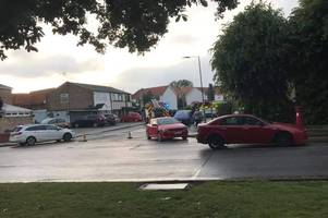 basildon markham chase closes as person trapped in crash