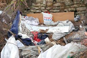 alarming discovery of homeless person's den after hedgerows hacked back in margate