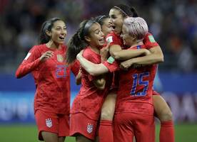 fifa women's world cup 2019: alex morgan hits five goals as usa begin title defence with 13-0 demolition of thailand