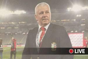 british and irish lions head coach announcement live: wales boss warren gatland set to be named