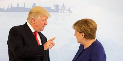 trump is threatening sanctions on germany over its russian gas pipeline, opening a new front in the trade war that the kremlin calls 'blackmail'