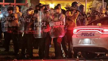 at least 24 officers injured in protests after deadly memphis shooting