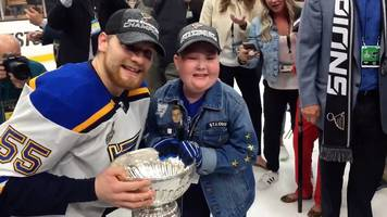 eleven-year-old super fan with immune disease shares stanley cup win