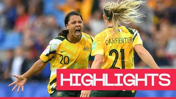 women's world cup 2019: australia fight back from 2-0 down to win 3-2 against brazil