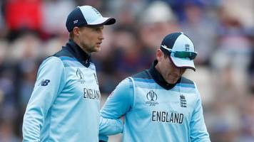 eoin morgan: england captain goes off injured against west indies