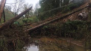 storm callum: a484 fully reopens after eight months