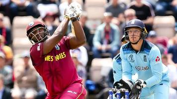 Cricket World Cup: West Indies Andre Russell is dropped, hits two sixes and out v England