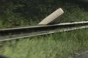 what kind of idiot would dump this mattress at the side of the a40 near gloucester?