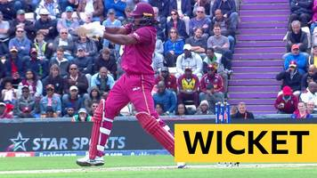 cricket world cup: chris gayle caught by england's jonny bairstow