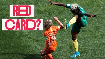 women's world cup 2019: 'oh dear' - should cameroon have had a red card?