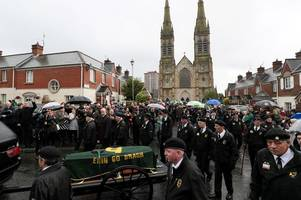 dead ira veteran who opposed peace process given hero's send off in belfast