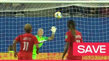women's world cup 2019: fantastic erin nayler save stops canada doubling lead