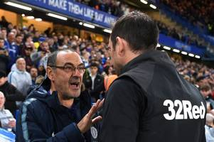 'We are ready for him' - Chelsea fans want Derby County boss Frank Lampard to replace Maurizio Sarri