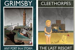 artist behind bleakly funny travel posters of grimsby and cleethorpes admits: 'they end up in downstairs toilets, i know my place'
