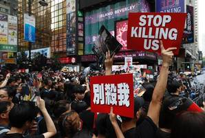 hong kong set for street march as protester death mourned
