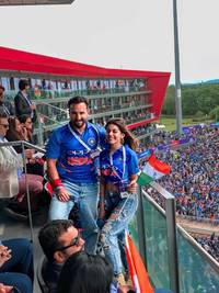 Alaia F joins mentor and co-star Saif Ali Khan for the India vs Pakistan match