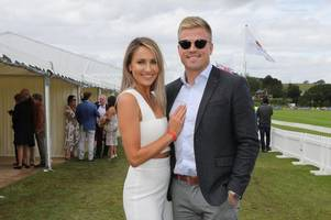 newlywed wales rugby star gareth anscombe spotted at the polo with pal liam williams