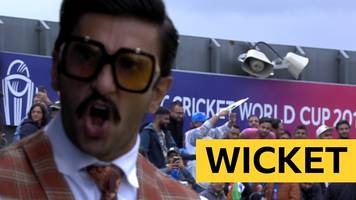 cricket world cup: bollywood star ranveer singh cheers babar azam wicket