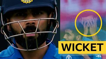 cricket world cup: india's virat kohli furious after falling to pakistan's sarfaraz ahmed