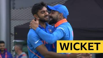 cricket world cup: shankar takes wicket with first ever world cup delivery
