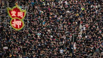Hong Kong protests: Scale of the march in photos