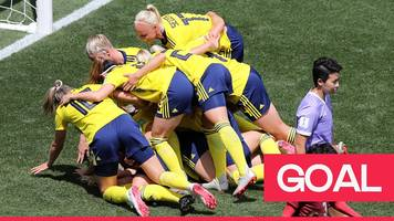 women's world cup 2019: sembrant heads the ball home to claim fastest goal of the tournament so far