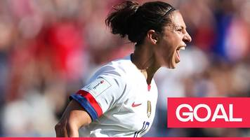 women's world cup 2019: usa's carli lloyd volleys home to open the scoring against chile