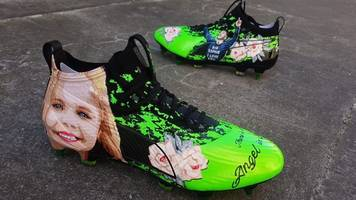 super strong sophie: james maddison football boots honour cancer girl
